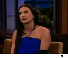 Demi Moore Talks Twitter on 'Tonight Show'