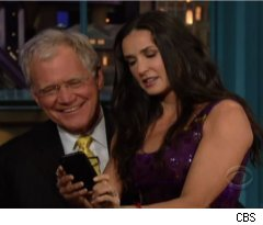 Demi Moore, David Letterman Send Twitter Picture