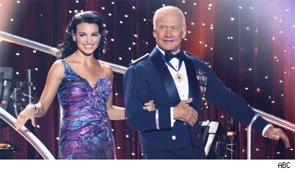 Buzz Aldrin and Ashly Costa