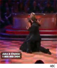 Jake trips on Dancing with the Stars
