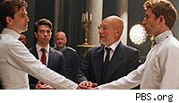 David Tennant and Patrick Stewart in 'Hamlet' on PBS's 'Great Performances'