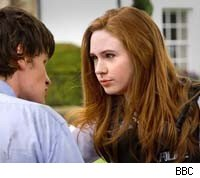 Karen Gillan and Matt Smith as Amy and the Doctor on 'Doctor Who'