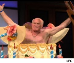 Terry Bradshaw Cake on 'Tonight Show'