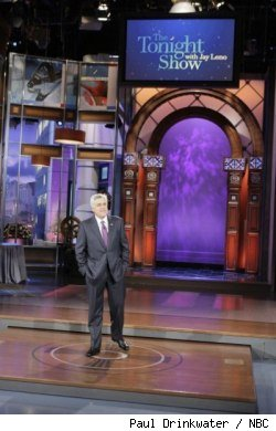 Jay Leno on his first day back on 'The Tonight Show' on March 1, 2010