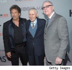 Al Pacino, Jack Kervorkian and Barry Levinson at the premiere of HBO's 'You Don't Know Jack'