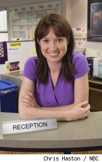 Ellie Kemper as Erin on 'The Offce'
