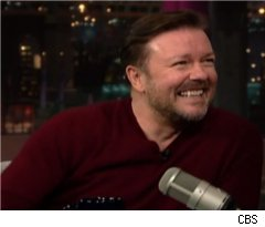 Ricky Gervais Talks Larry David on 'Late Show'