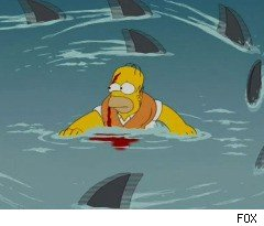 Swimming With the Sharks on 'The Simpsons'