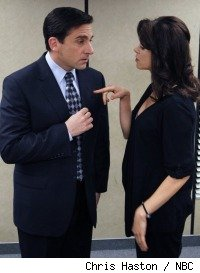 Steve Carell and Amy Pietz in 'The Office' - 'Body Language'