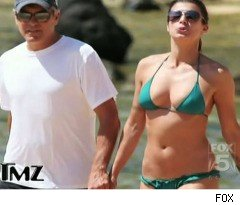 George Clooney's Girlfriend in a Tiny Bikini on 'TMZ'