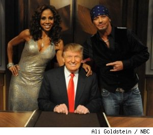 Holly Robinson Peete, Bret Michaels and Donald Trump in the finale of 'The Celebrity Apprentice'