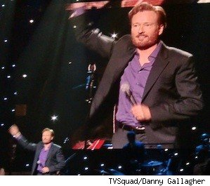 Conan O'Brien performing in Dallas at SMU's McFarlin Auditorium on the