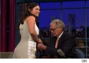 Letterman Gets Grabby with Evangeline Lilly