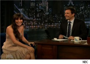 Lea Michele Quotes Jimmy Fallon