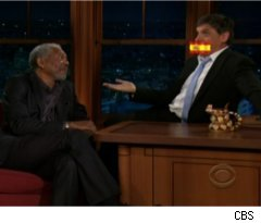 Morgan Freeman Cusses on 'Late Late Show'