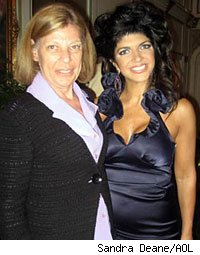 The author's mother with Teresa Guidice of The Real Housewives of New Jersey