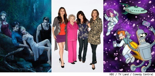 'True Blood' / 'Hot in Cleveland' / 'Futurama'