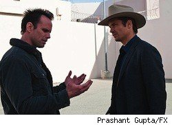 Timothy Olyphant and Walton Goggins on 'Justified'