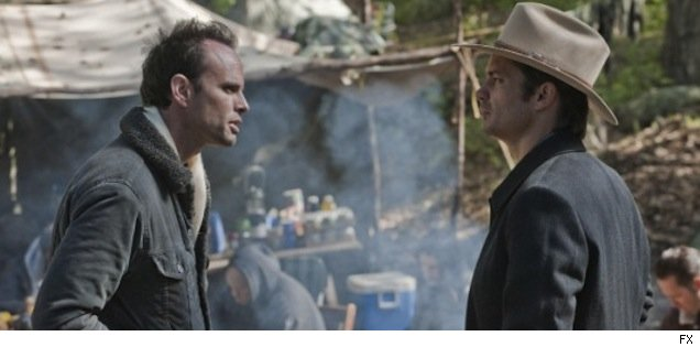 Walton Goggins and Timothy Olyphant on 'Justified'