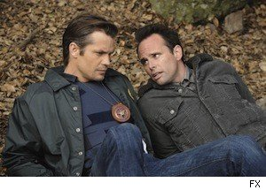 Timothy Olyphant and Walton Goggins in 'Justified'