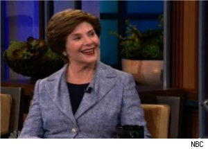 Laura Bush Explains Racy Photo on 'Tonight Show'