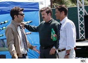 parks and rec rob lowe adam scott