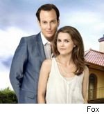 Will Arnett and Keri Russell in 'Running Wilde'
