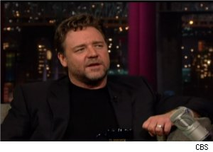 Russell Crowe Talks His Sons on 'Late Show'