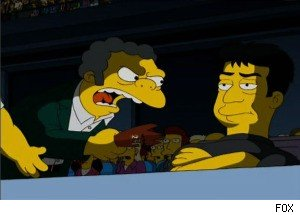 Simon Cowel in a Fight on 'The Simpsons'