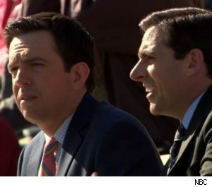 Steve Carell and Ed Helms in 'The Office' - 'The Chump'