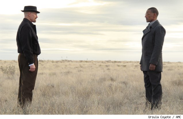 Bryan Cranston and Giancarlo Esposito in 'Breaking Bad' - 'Full Measure'