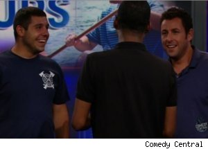 Adam Sandler Meets Look-Alike on 'Daily Show'
