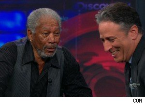 Morgan Freeman Explains the Universe on 'The Daily Show'