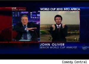 World Cup Soccer Rage, Rivalry on 'Daily Show'