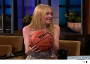 Dakota Fanning Tries Re-Gifting Present from Lakers' Pau Gasol
