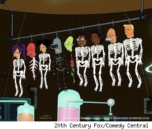 The dead cast of 'Futurama' 