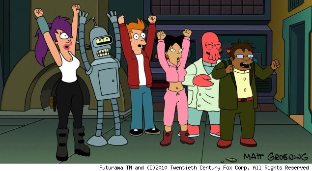 Scene from 'Futurama' - 'Rebirth'