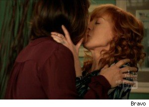 Mariska Hargitay and Kathy Griffin Finally Get Their Lesbian Kiss