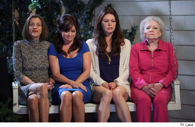 Wendie Malick, Valerie Bertinelli, Jane Leeves and Betty White in 'Hot in Cleveland'