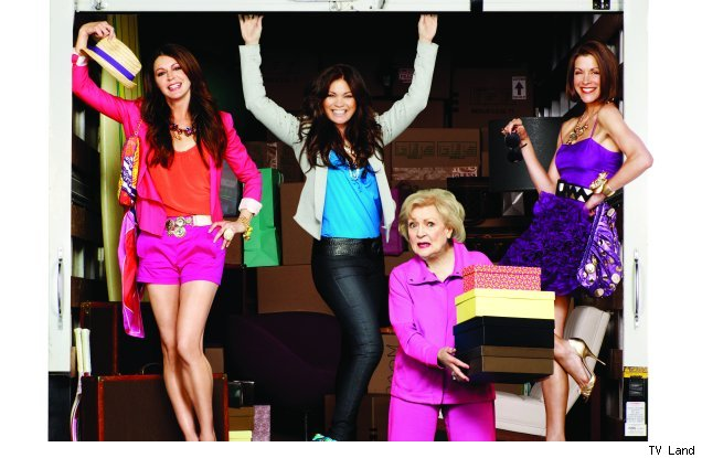 Jane Leeves, Valerie Bertinelli, Betty White, and Wendie Malick of 'Hot in Cleveland'