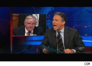 A Repubican Defends BP -- and Gets Yelled at on 'The Daily Show'