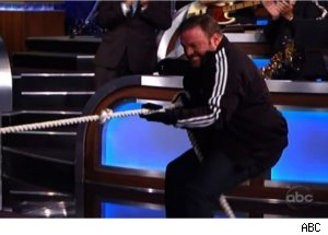 Kevin James in 'Jimmy Kimmel Live' Tug-of-War 