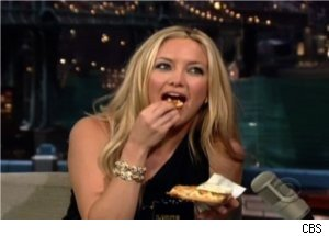Letterman Makes Waffles for Kate Hudson