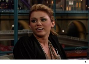 Miley Cyrus Calls Letterman a Girl, Says Never Lip-Syncs