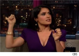 Salma Hayek Talks 'Extra' Snake Scare on 'Late Show'