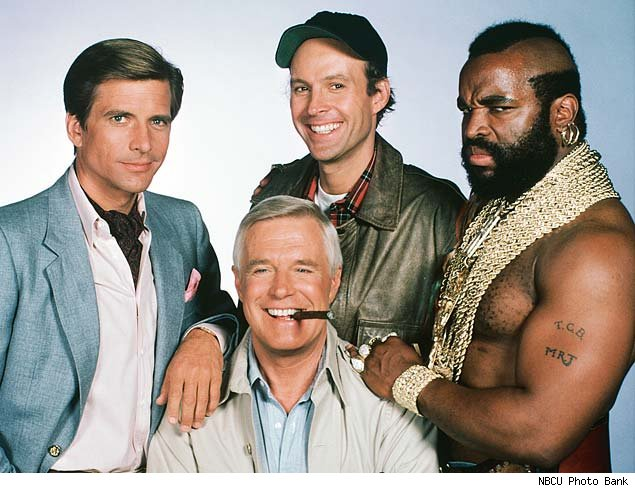 the a team But pity the fool who lets that stand in the way of enjoying the a-team, the super-caffeinated movie version of the series that ran on nbc from 1983 to 1987 mr t, who starred on the tv series as.