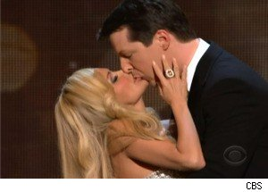 Sean Hayes and Kristin Chenoweth Make Out at 'The