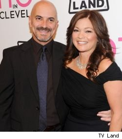 A new talk show hosted Valerie Bertinelli (pictured with finance Tom Vitale) may replace 'As The World Turns' come September.
