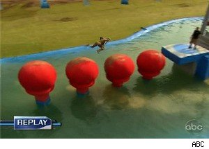 Blind Dates Compete Against Each Other on 'Wipeout'