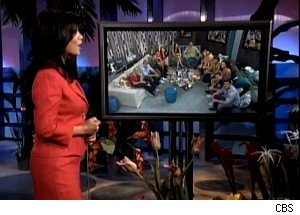 Julie Chen talks to the houseguests on 'Big Brother 12'